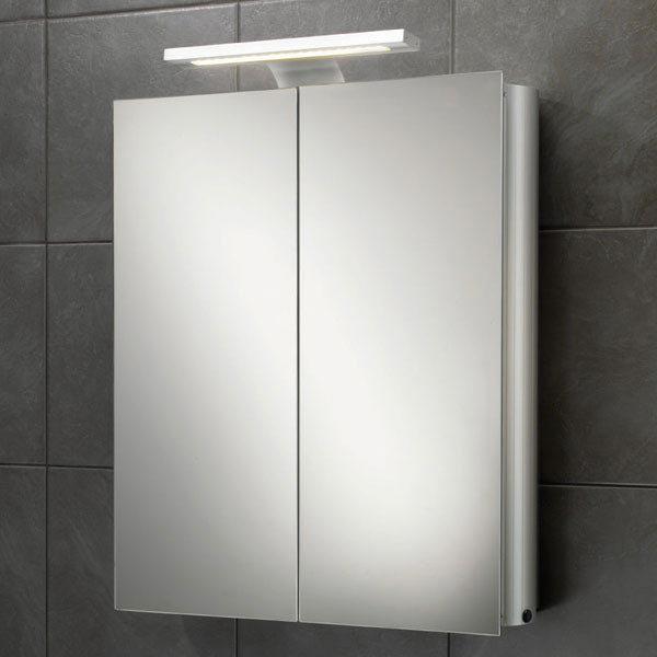 HIB Atomic LED Aluminium Mirror Cabinet - 42700 Large Image