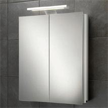 HIB Atomic LED Aluminium Mirror Cabinet - 42700 Medium Image