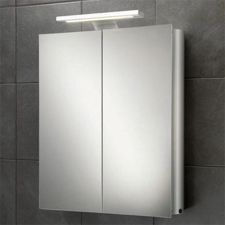 HIB Atomic LED Aluminium Mirror Cabinet - 42700