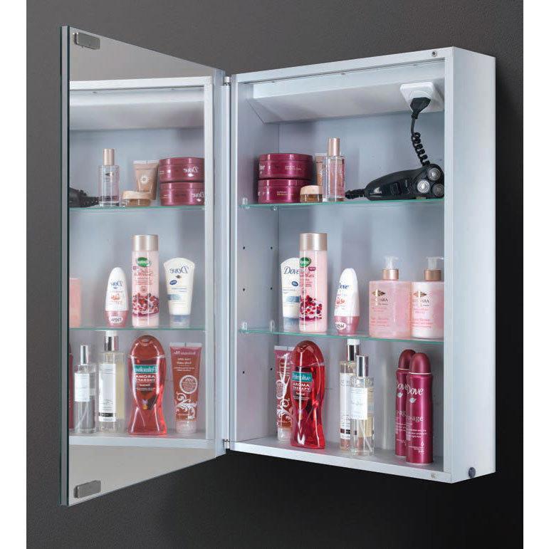HIB Cosmic LED Demisting Aluminium Mirror Cabinet - 43400  Profile Large Image