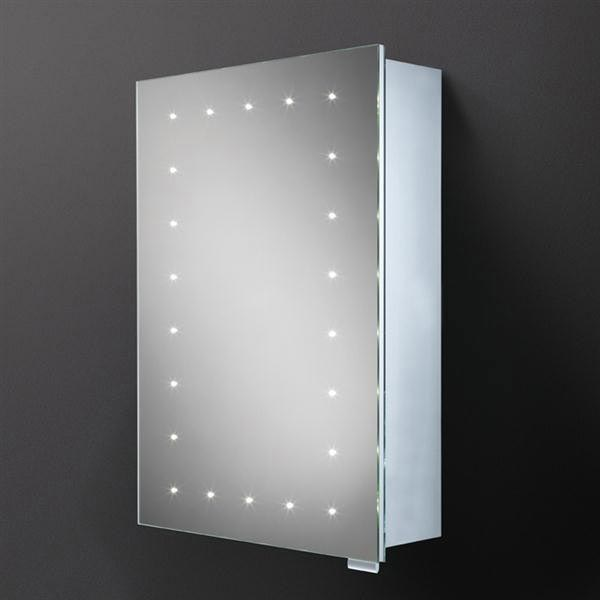 HIB Vogue LED Demisting Aluminium Mirror Cabinet - 42900 Large Image