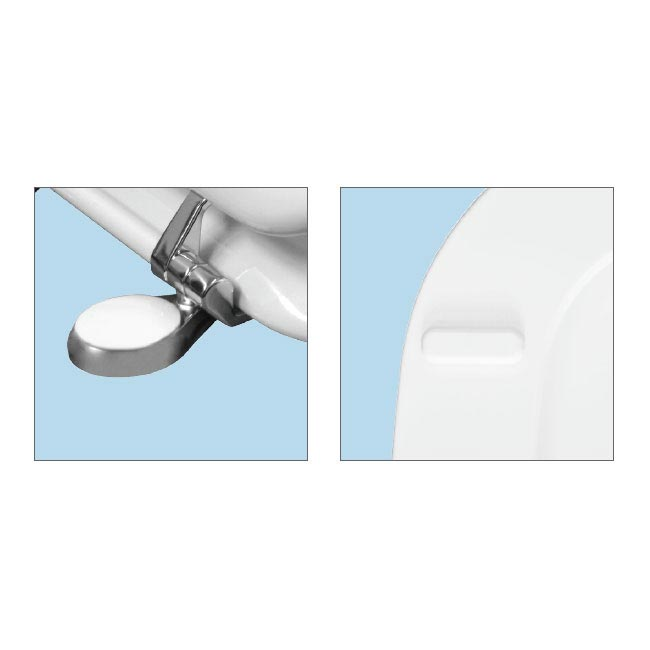 Bemis Victoria Toilet Seat with Adjustable Chrome Hinges - 4300QER000 Profile Large Image