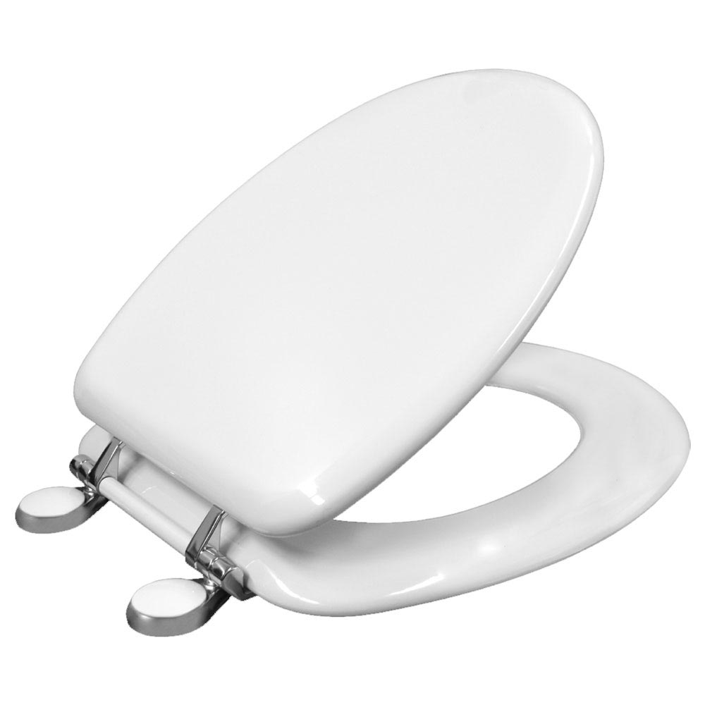 Bemis Victoria Toilet Seat with Adjustable Chrome Hinges - 4300QER000 Large Image