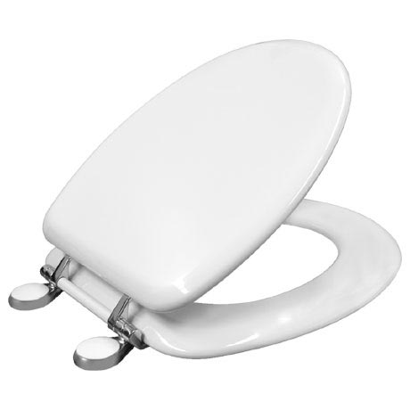 Bemis Victoria Toilet Seat with Adjustable Chrome Hinges - 4300QER000