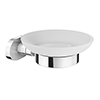 Cruze Frosted Glass Soap Dish & Holder - Chrome profile small image view 1