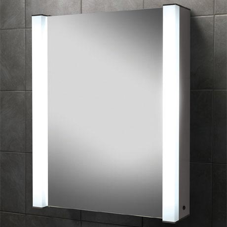 HIB Velocity Fluorescent Aluminium Mirror Cabinet - 43100