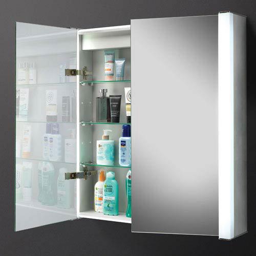 HIB Photec Fluorescent Aluminium Mirror Cabinet - 43200  Profile Large Image