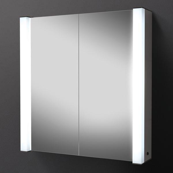 HIB Photec Fluorescent Aluminium Mirror Cabinet - 43200 Large Image
