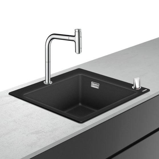 hansgrohe C51-F450-06 1.0 Bowl Kitchen Sink & Tap Bundle - 43217000