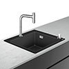 hansgrohe C51-F450-06 1.0 Bowl Kitchen Sink & Tap Bundle - 43217000 profile small image view 1