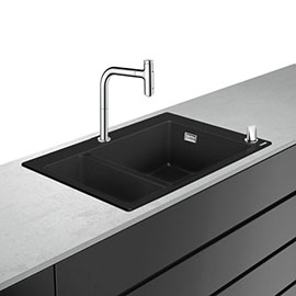 hansgrohe C51-F635-09 1.5 Bowl Kitchen Sink & Tap Bundle - 43220000
