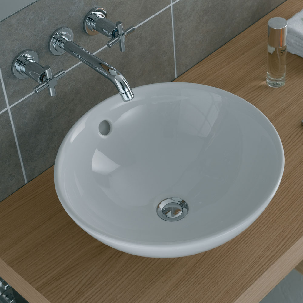 Vitra - Options 43cm Countertop Vanity Basin - 4324 Feature Large Image