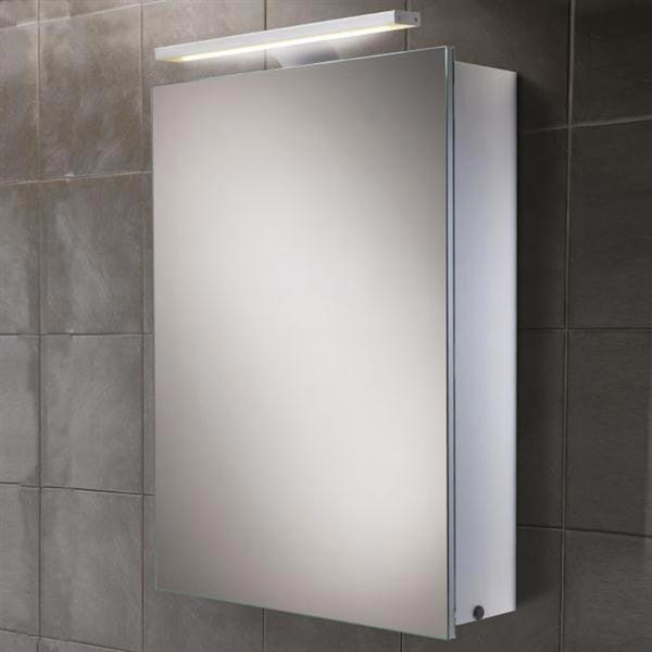 HIB Orbital LED Demisting Aluminium Mirror Cabinet - 43300 Large Image