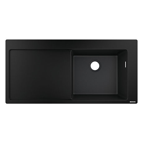 hansgrohe S514-F450 1.0 Bowl Built-in Kitchen Sink with Drainer - Graphite Black - 43314170