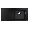 hansgrohe S514-F450 1.0 Bowl Built-in Kitchen Sink with Drainer - Graphite Black - 43314170 profile small image view 1