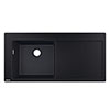 hansgrohe S5110-F450 1.0 Bowl Built-in Kitchen Sink with Drainer - Graphite Black - 43330170 profile small image view 1