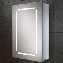 HIB Cosmic LED Demisting Aluminium Mirror Cabinet - 43400 Medium Image