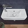 Villeroy and Boch O.novo Compact 500 x 250mm 1TH Handwash Basin profile small image view 1