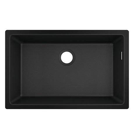 hansgrohe S510-U660 1.0 Bowl Undermount Kitchen Sink - Graphite Black - 43432170