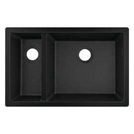hansgrohe S510-U635 1.5 Bowl Undermount Kitchen Sink - Graphite Black - 43433170