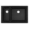 hansgrohe S510-U635 1.5 Bowl Undermount Kitchen Sink - Graphite Black - 43433170 profile small image view 1