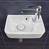 Villeroy and Boch O.novo Compact 360 x 250mm 1TH Handwash Basin profile small image view 1