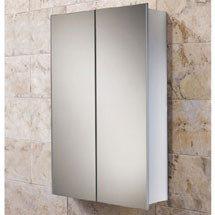 HIB Jupiter Aluminium Mirror Cabinet - 43600 Medium Image