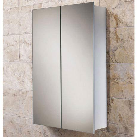 HIB Jupiter Aluminium Mirror Cabinet - 43600