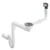 hansgrohe D16-10 Manual Waste & Overflow Set for Single Bowl Granite - 43927000 profile small image view 1
