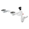 hansgrohe D17-10 Manual Waste & Overflow Set for Double Bowl Granite - 43928000 profile small image view 1