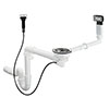 hansgrohe D16-11 Automatic Waste & Overflow Set for Single Bowl Granite - 43937000 profile small image view 1