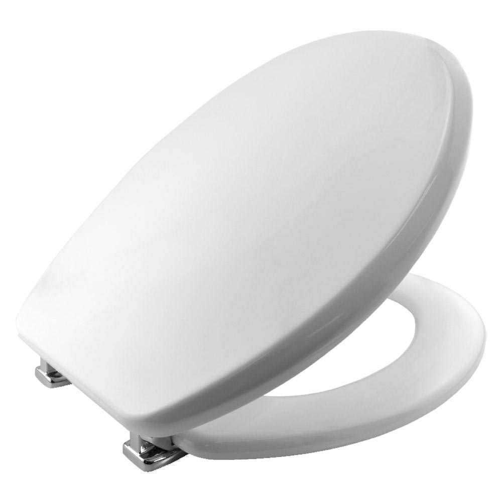 Bemis Memphis Toilet Seat with Adjustable Chrome Hinges - 4402CPT000