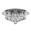 Searchlight Hanna Chrome 4 Light Semi-Flush with Clear Crystal Balls - 4404-4CC-LED profile small image view 1