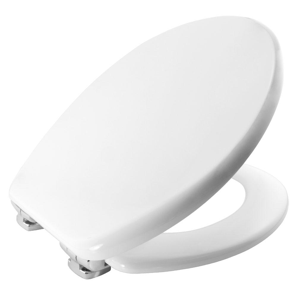Bemis Modena Soft Close Toilet Seat with Chrome Hinges - 4404CLT000 profile large image view 1