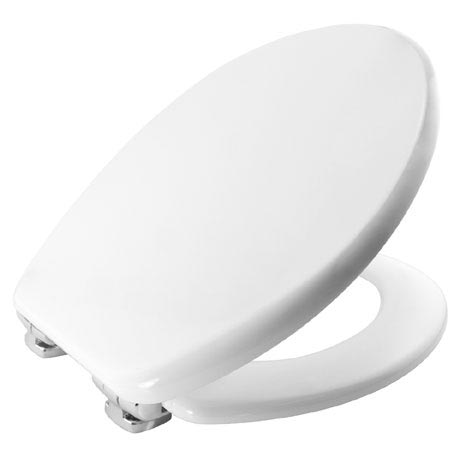 Bemis Modena Soft Close Toilet Seat with Chrome Hinges - 4404CLT000