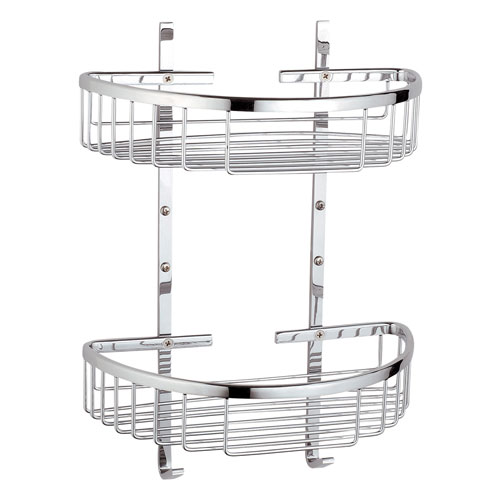 Vitra - Arkitekta Double Wall Basket - Chrome - 44053 Large Image