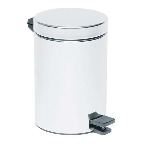 Vitra - Arkitekta Stainless Steel Pedal Bin - 3 Size Options profile large image view 1