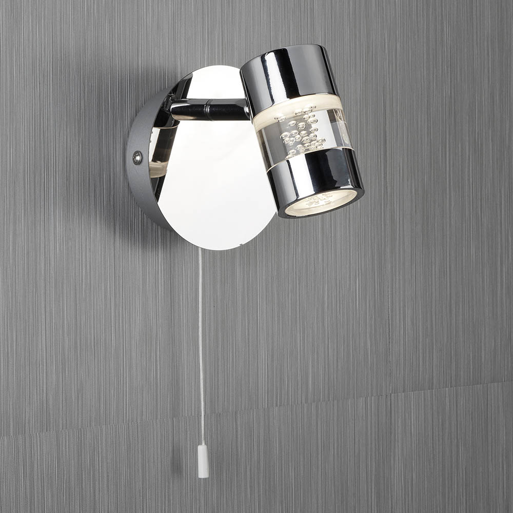 Searchlight Bubbles Chrome LED Wall Spotlight | Victorian Plumbing