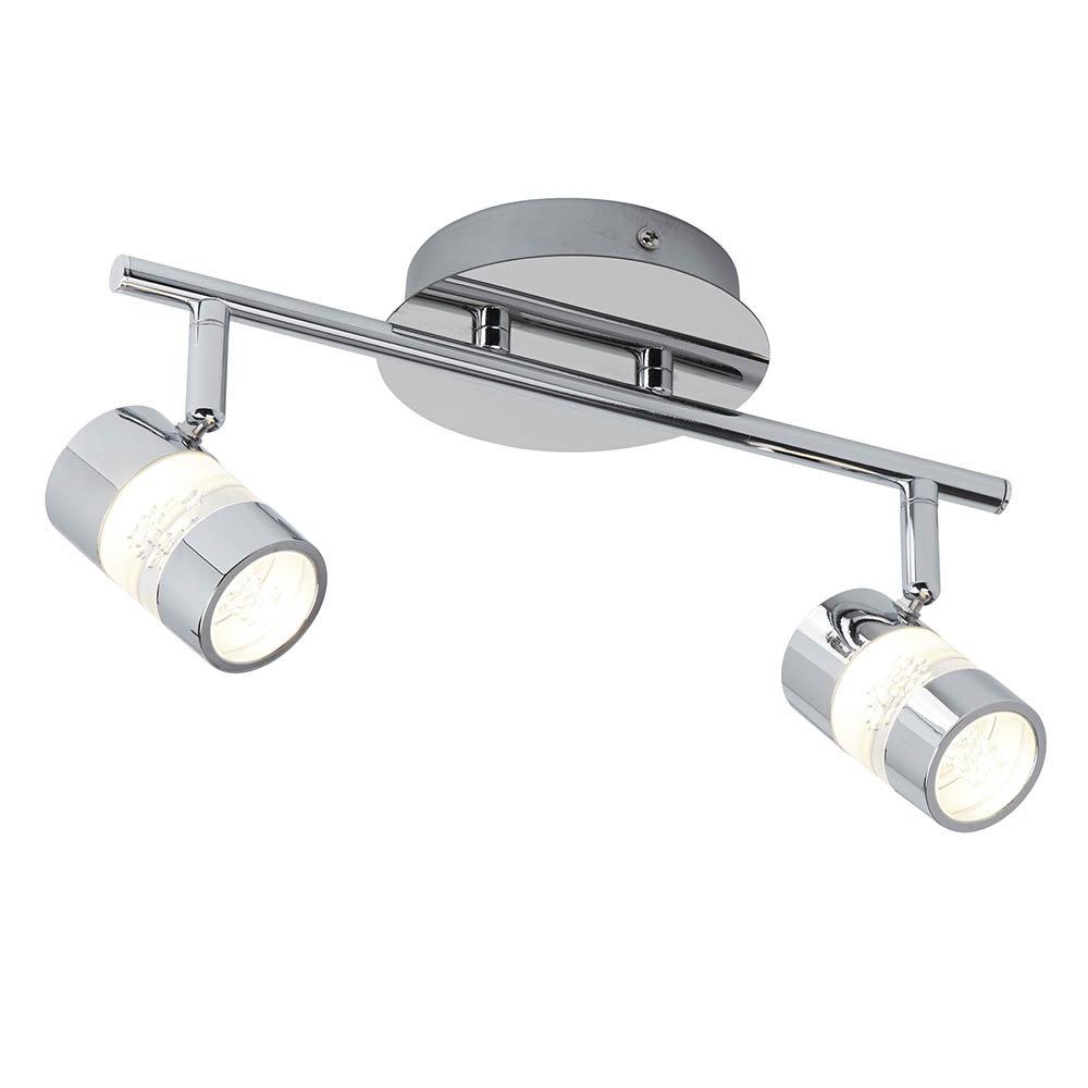 Searchlight Bubbles Chrome 2 Light LED Spotlight Bar - 4412CC