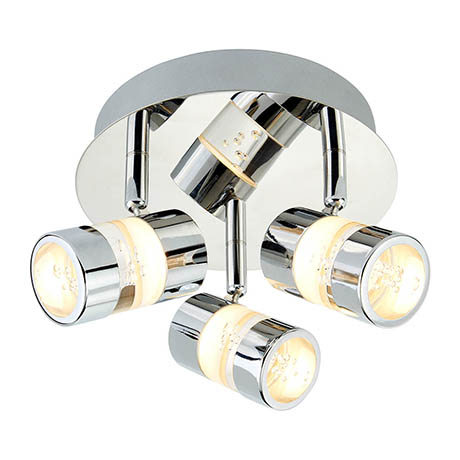 Searchlight Bubbles Chrome 3 LED Ceiling Spotlight with Acrylic Bubbles Effect - 4413CC
