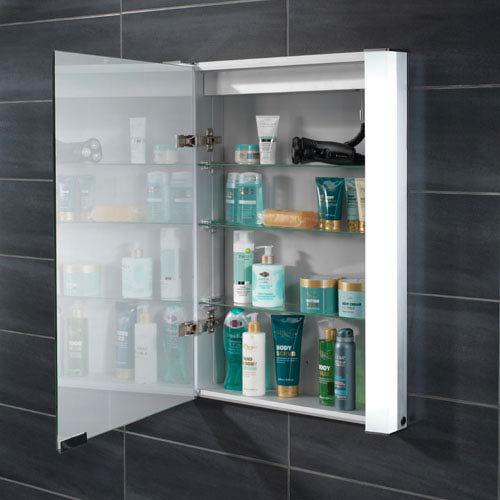 HIB Parity Recessed Fluorescent Aluminium Mirror Cabinet - 44200  Profile Large Image