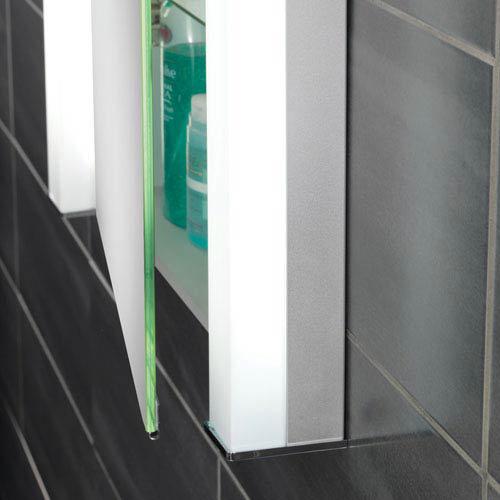 HIB Parity Recessed Fluorescent Aluminium Mirror Cabinet - 44200  Feature Large Image