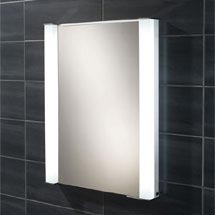 HIB Parity Recessed Fluorescent Aluminium Mirror Cabinet - 44200 Medium Image