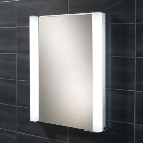 HIB Parity Recessed Fluorescent Aluminium Mirror Cabinet - 44200