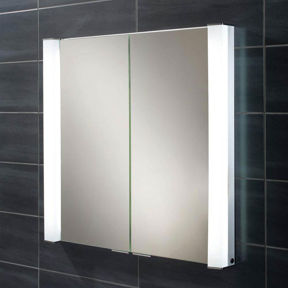 HIB Laser Recessed Fluorescent Aluminium Mirror Cabinet - 44300 Large Image