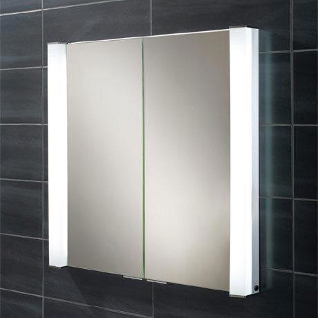 HIB Laser Recessed Fluorescent Aluminium Mirror Cabinet - 44300