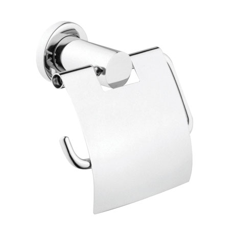 Vitra - Ilia Toilet Roll Holder with Cover - Chrome - 44390 Large Image
