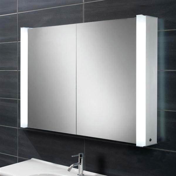 HIB Vector Fluorescent Aluminium Mirror Cabinet - 44400 Large Image