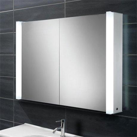 HIB Vector Fluorescent Aluminium Mirror Cabinet - 44400