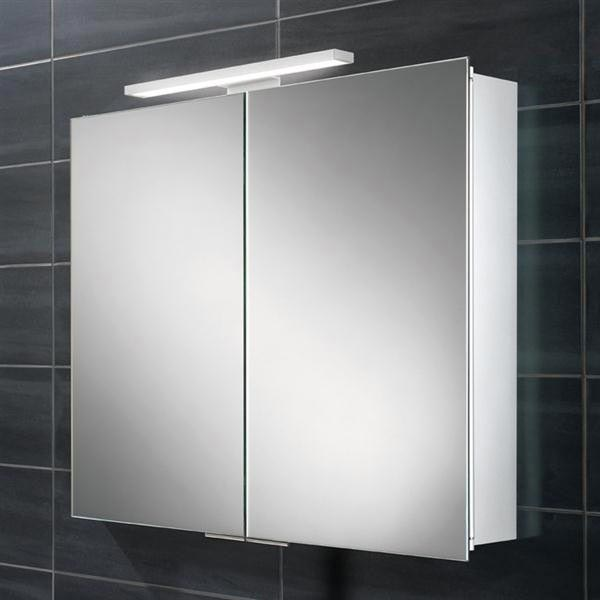 HIB Neutron LED Aluminium Mirror Cabinet - 44500 profile large image view 1